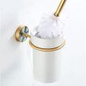 Modern Brass Toilet Brush Holder Seashell Decoration QSMTS01