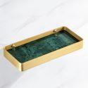 Modern Rectangle Brass Shelf Bathroom Rack YSQS007