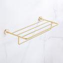 European Style Brass Shelf Rack Decorative Shell Bathroom Towel Rack QSYJJ01