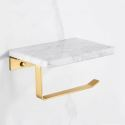 Nordic Style Roll Holder Creative Marble Brass Paper Holder YSQS005