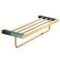European Style Brass Towel Rack Bath Shelves Rack YSQS001
