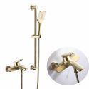 Brass Handheld Shower Bathtub Faucet Brushed Gold/Black Optional with Slide