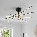 Contemporary LED Flush Mount Lighting Fan Shaped Ceiling Light Bedroom Living Room