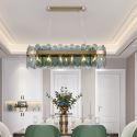 Minimalist LED Glass Pendant Light Unique Color Rectangle Ceiling Light Living Room Kitchen Island
