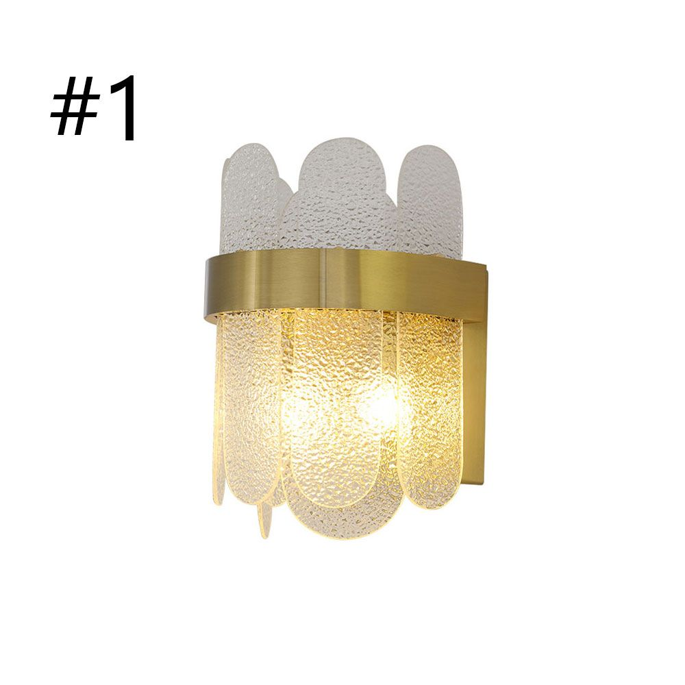 Modern Simple Glass Wall Lamp Sconce Lamp Bedroom Living Room