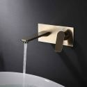 Wall Mounted Centerset Basin Faucet Brushed Gold/Black Color Optional with Embedded Box