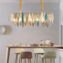 Rectangle Glass Pendant Light Modern Glass Ceiling Light Living Room Kitchen