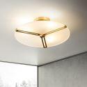 Modern Acrylic Frisbee Ceiling Light Flush Mount Lighting Bedroom Living Room