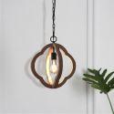 Vintage Style Wood Pendant Light Kitchen Island Ideas Living Room Light Fitting