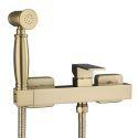 Brushed Gold Pressurized Bidet Spray Brass Bidet Faucet Hot and Cold Faucet