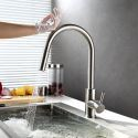 Smart Touch Kitchen Faucet Mixer Tap with Pull Out Sprayer 304 Stainless Steel