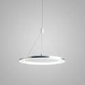 LED Pendant Light Acrylic Silver Circle Lamp 30cm