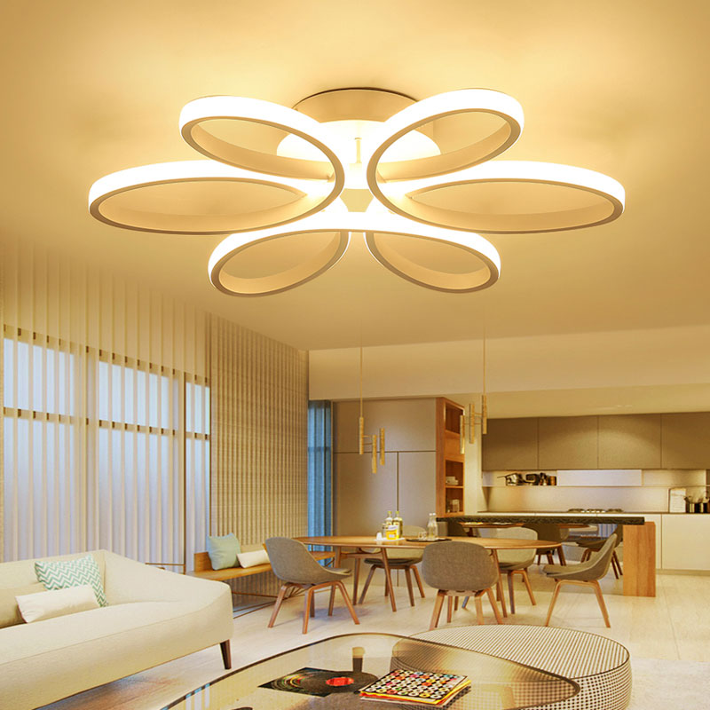 Led Flush Mount Flower Light Led Ceiling Light Living Room Dining Room With Remote Control