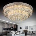 Modern LED Crystal Chandelier Round LED Flush Mounted Bedroom Dining Room