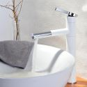 Creative Pull-Out Basin Mixer Tap Swivel Bathroom Countertop Faucet (Tall)