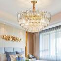 Round Stainless Steel Pendant Light Modern Glass Ceiling Light Living Room Study 2819