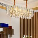 Nordic Style Glass Pendant Light Oval Shaped Decorative Ceiling Light Living Room Bedroom 2806
