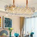 Modern Plum Blossom Glass Ceiling Light Oval Glass Pendant Light Living Room Kitchen 2236