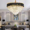 Modern Pyramid Glass Pendant Light Chandelier Living Room Bedroom 8058