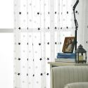 Star Embroidery Voile Sheer Curtain Panel Living Room Bedroom Glass Door Window (One Panel)