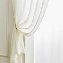 Solid Color Lace Sheer Curtain Panel Voile Curtain Bay Window Bedroom (One Panel)