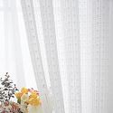Modern Solid White Color Voile Sheer Curtain Bedroom Living Living Room (One Panel)