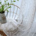 French Lace Floret Voile Sheer Curtain Panel Balcony Living Room (One Panel)