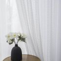 Little Leaf Pattern Sheer Curtain Panel European Style Lace Voile Curtain Bay Window Bedroom (One Panel)