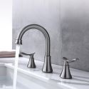 Stainless Steel Split Basin Faucet Dual Handles Bathroom Sink Tap Brushed Nickel/ORB Color Available