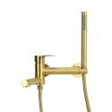 Wall Mounted Bathtub Tap Tub Filler Faucet with Hand Shower