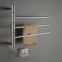 Swivel Towel Warmer 40W Swing Arm Stainless Steel Circular Tube  Drying Rack