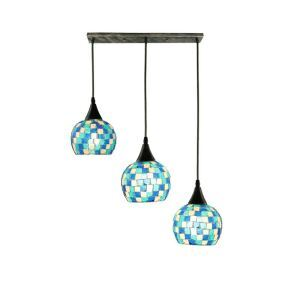 Lattice Colorful Shell Pendant Light Decorative Cluster Lamp Living Room Kitchen DD4006