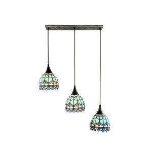 Stained Glass Cluster Pendant Light Decorative Light Fixture Living Room Kitchen Island Idea DD4049