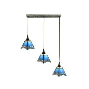 Stained Glass Cluster Pendant Light Decorative Light Fixture Living Room Kitchen Island Idea DD4034