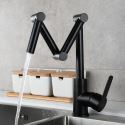 Foldable Brass Kitchen Sink Faucet Black/Chrome/Nickel Brushed Colors Available