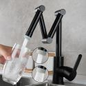 Foldable Brass Kitchen Faucet Kitchen Sink Tap 2 Modes Tap Filter