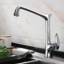 Modern Rotatable Brass Kitchen Faucet Kitchen Sink Tap 4 Colors Optional