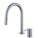 Pull-Out Split Brass Basin Tap Modern Single Handles Vessel Sink Faucet