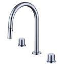 Pull-Out Split Brass Basin Tap Modern Dual Handles Vessel Sink Faucet