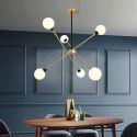 Modern Magic Bean LED Pendant Lamp Glass Ball Light Fixture Living Room Bedroom 9112