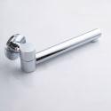 Wall Mount Brass Tub Faucet Spout 180-Degree Swivel Chrome