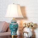 Contemporary Table Lamp Emboss Glaze Lamp Ceramic Base Lighting Living Room Bedroom Light HY065