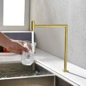 Minimalist Brass kitchen Water Filter Faucet Swivel Water Purification Tap Cold Water Only