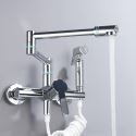 Creative Foldable Kitchen Faucet Swivel Wall Mounted Kitchen Sink Tap with Bidet Sprayer
