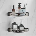 Bathroom Corner Triangular Bath Shelf Wall Mounted Bath Storage 7600