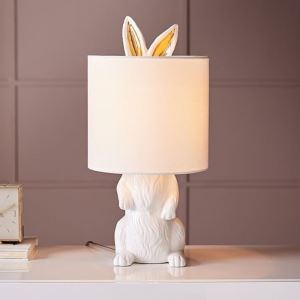 White Masked Rabbit Table Lamp Bedroom Study Reading Desk Lamp A232