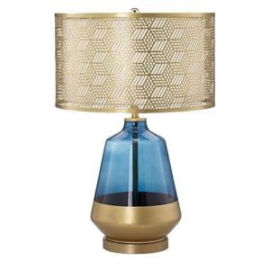 Modern Table Lamp Creative Hollow Out Gold Lampshade Study Bedside Reading Lamp 205