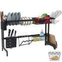 Multifunctional Stainless Steel Kitchen Rack Storage Rack Dish Cup Drying Rack SCJ00486BK