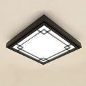 Modern Black Ceiling Light Nordic Simple LED Ceiling Light Living Room Bedroom Balcony Wooden Lighting
