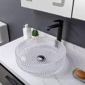 Transparent Round Glass Wash Basin Bathroom Washroom Countertop Sink